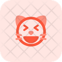 Cat Grinning Squinting Icon