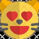 Cat Heart Eyes Icon