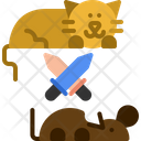 Cat Hunt Mouse Icon
