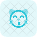 Cat Kissing Smiling Eyes Icon
