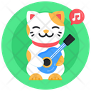 Cat Guitar Cat Music Cat Playing Instrument Icon