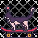Skateboard Cat Love Icon
