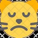 Cat Sad Face Icon