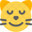 Cat Smiling Closed Eyes Icon
