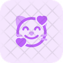 Cat Smiling With Hearts Icon
