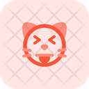 Cat Squinting Eyes Tongue Icon