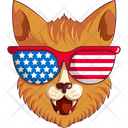 Cat With Sun Glasses Icon