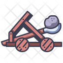 Medieval Castle Catapult Icon