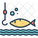 Catch Fishing Barbed Icon