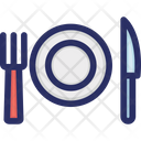 Catering Christmas Dinner Icon