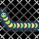 Caterpillar Worm Green Icon