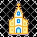 Catholic Temple Color Icon