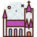 Cathedral Church Landmark Icon