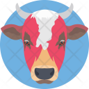 Cow Face Head Icon