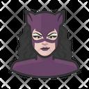 Catwoman Superhero Caucasian Icon