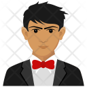 Caucasian Avatar Businessman Icon