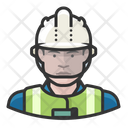 Caucasian Man Worker Construction Caucasian Icon