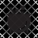 Cauldron Halloween Witch Icon