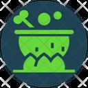 Halloween Cauldron Witch Icon