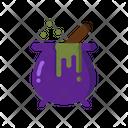 Cauldron Halloween Pot Icon