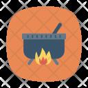 Cauldron Burner Halloween Icon