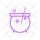 Cauldron Halloween Mixing Icon