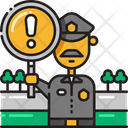 Caution Traggic Police Alert Icon
