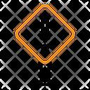 Caution Sign Construction Icon