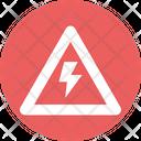 Caution Thunder Thunderbolt Icon
