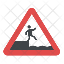 Caution Falling Water Icon