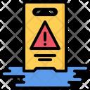 Sign Wet Floor Icon