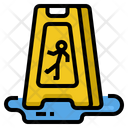 Caution Slippery Sign Icon