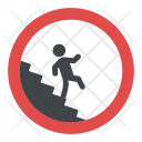 Caution Stairway Sign Icon