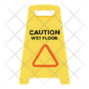Wet Floor Caution Stand Caution Board Icon
