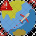 Cautious Travel Travel Warning Warning Icon
