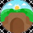 Nature Cave Sun Icon