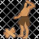 Stoneage History Symbol Caveman Icon