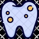 Cavity Holes Teeth Icon