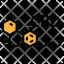 Cbd Molecules Chemical Icon