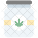 Jar Cannabis Cannabidiol Icon