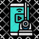 Cctv Mobile Remote Icon