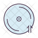 Cd Upload Sign Icon