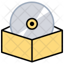 Compact Disk Blu Icon