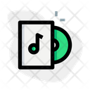 Cd Music With Box Icon