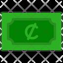 Cedi Banknote Country Icon