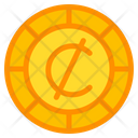 Cedi Coin Currency Icon