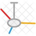 Ceiling Fan Electric Icon