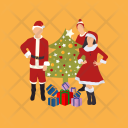 Family Christmas Party Icon