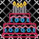 Celebration Birthday Cake Icon
