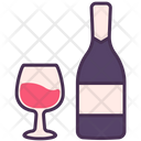 Christmas Holiday Wine Icon